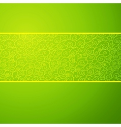 Green wave horizontal ornamental background vector image