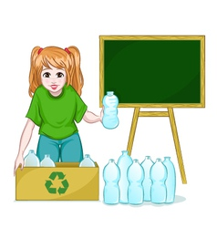 recycling bottles vector image vector image