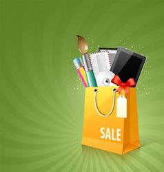 Art design bag vector image vector image