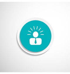 icon suggestion idea concept lightbulb people vector image vector image