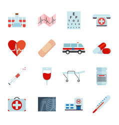simple medical icons set universal medical icon vector image vector image