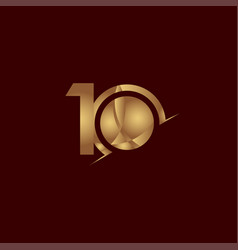 10 years anniversary celebration elegant number vector