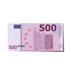 500 euro banknote european vector