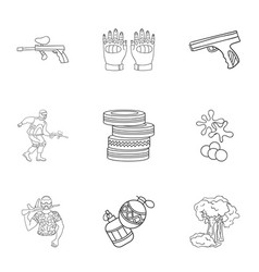 A collection of pictures about the game in vector