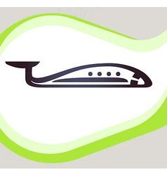 Airplane Retro-style emblem icon pictogram EPS 10 vector image