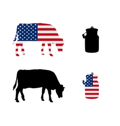 American milk cow vector image