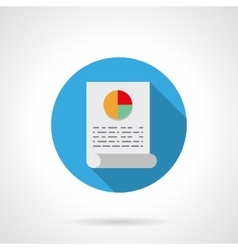 Analytical article round flat color icon vector