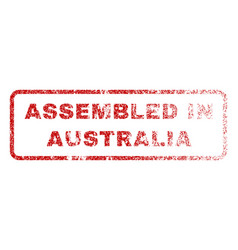 Assembled in australia rubber stamp vector