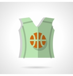 Basketball sleeveless shirt flat color icon vector