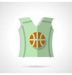 Basketball sleeveless shirt flat color icon vector