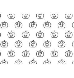 black pumpkin on white background vector image