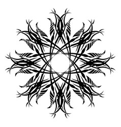 Black tribal tattoo 0020 vector
