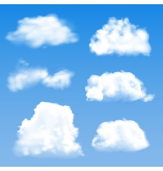 Blue cloud geometric background vector image