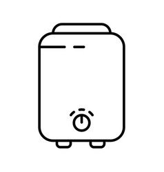 Boiler icon linear logo electric device for vector