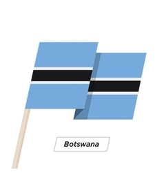 Botswana Ribbon Waving Flag Isolated on White vector image
