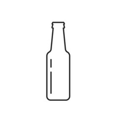 bottle beer icon vector image