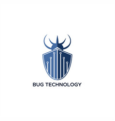 bug technology logo vector image