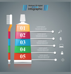 Business infographics toothpaste icon vector