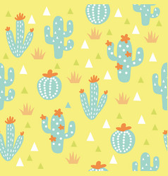 cactuses seamless pattern vector image
