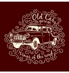 Car T-shirt Design vector image