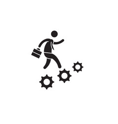 Career advancement black concept icon vector