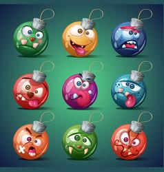 christmas ball happy new year vector image