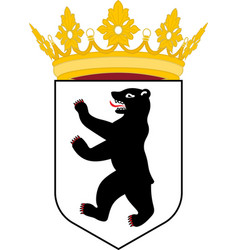 Coat of arms of berlin germany vector