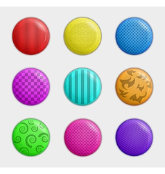 Color badges collection vector