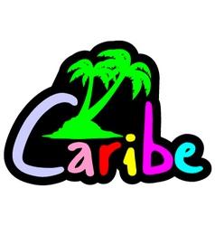 Color caribe symbol vector