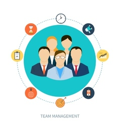 Concept of human resources and teamwork vector