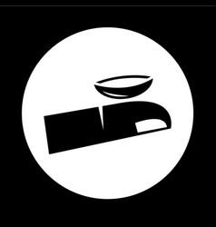 Contact lens icon design vector