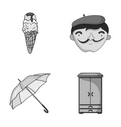 Cooking travel and other monochrome icon in vector