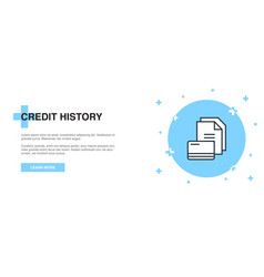 credit history icon banner outline template vector image