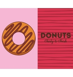delicious donuts design vector image