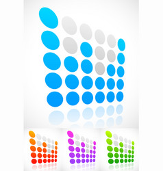 Dotted eq equalizer elements with perspective vector