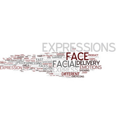 Expressions word cloud concept vector