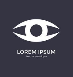 eye logo design template flat design style vector image
