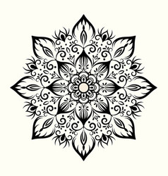Flower decorative mandala design element vector