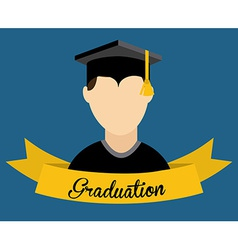 graduation design vector image