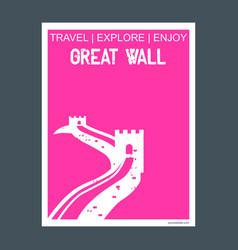 great wall china monument landmark brochure flat vector image