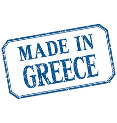 Greece - made in blue vintage isolated label vector