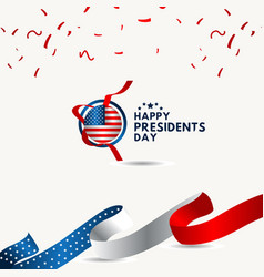 Happy presidents day template design vector