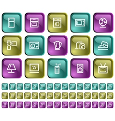 Home electronics buttons vector image vector image