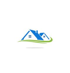 home realty company logo vector image