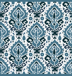 Ikat ornament waves tribal pattern vector