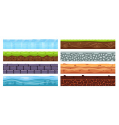 landscape grounds cartoon dirt clay archeology vector image