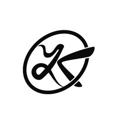 letter yk modern logo vector image