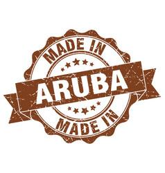 made in aruba round seal vector image