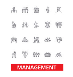 Management teamwork marketing strategy human vector