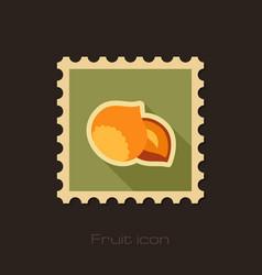 nut flat stamp fruit vector image